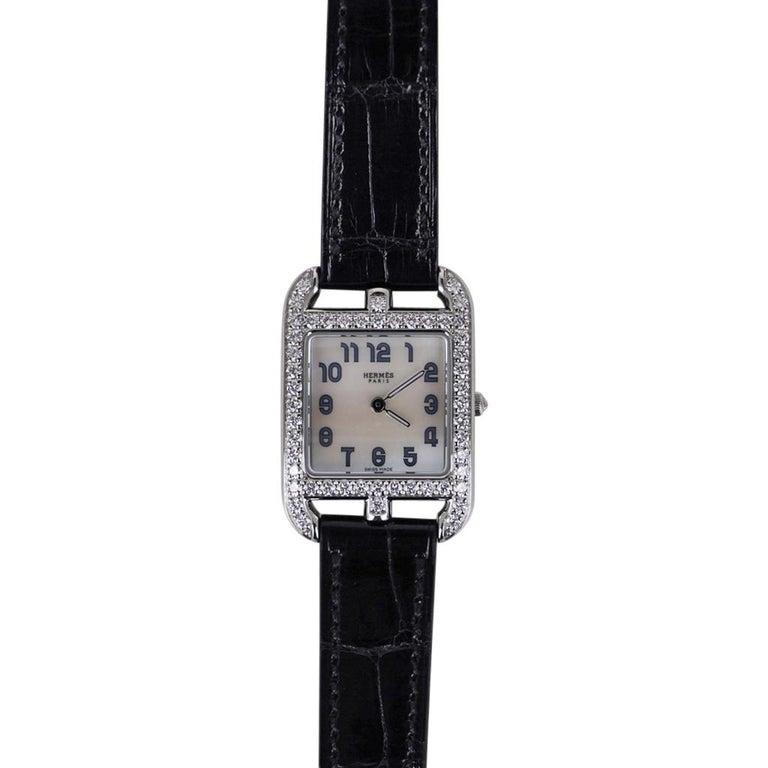 Hermes Cape Cod Timepiece Diamond Watch New w/Box In New Condition For Sale In Miami, FL