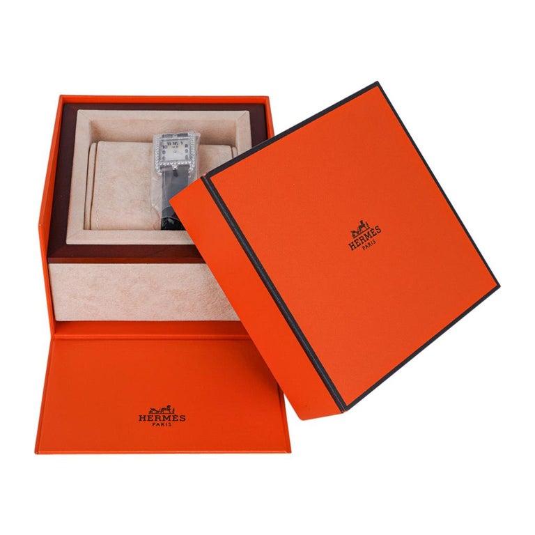 Hermes Cape Cod Timepiece Diamond Watch New w/Box For Sale 2