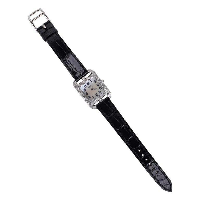 Hermes Cape Cod Timepiece Diamond Watch New w/Box For Sale 3