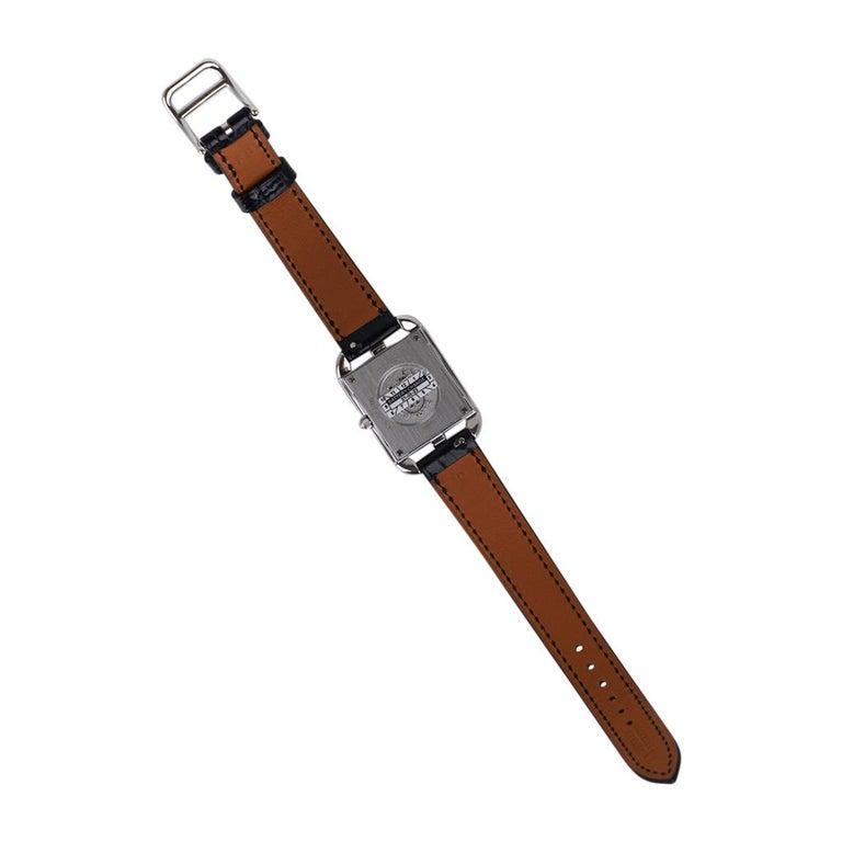 Hermes Cape Cod Timepiece Diamond Watch New w/Box For Sale 4