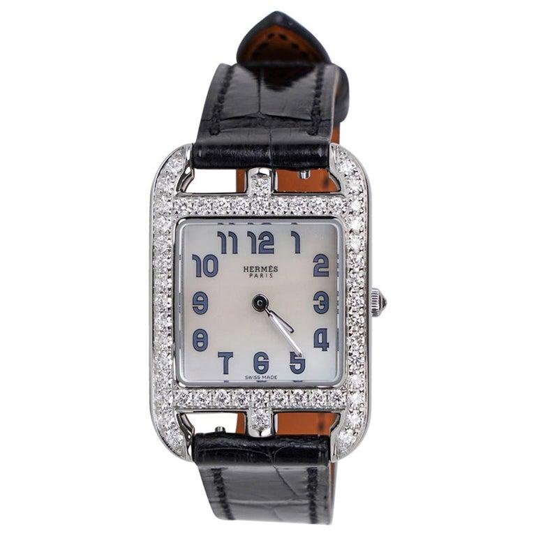 Hermes Cape Cod Timepiece Diamond Watch New w/Box For Sale