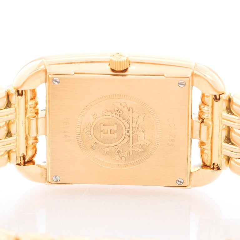 Women's Hermes Cape Cod Yellow Gold Ladies Watch CC1.288 For Sale