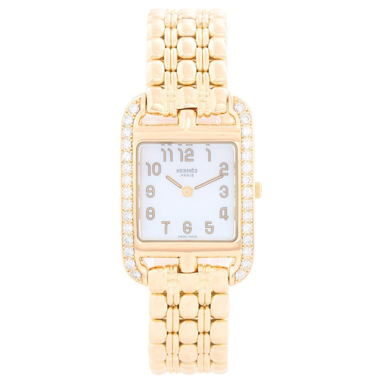 Hermes Cape Cod Yellow Gold Ladies Watch CC1.288 For Sale