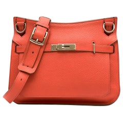 Hermes Capucine Clemence Leather Jypsiere 28 Bag