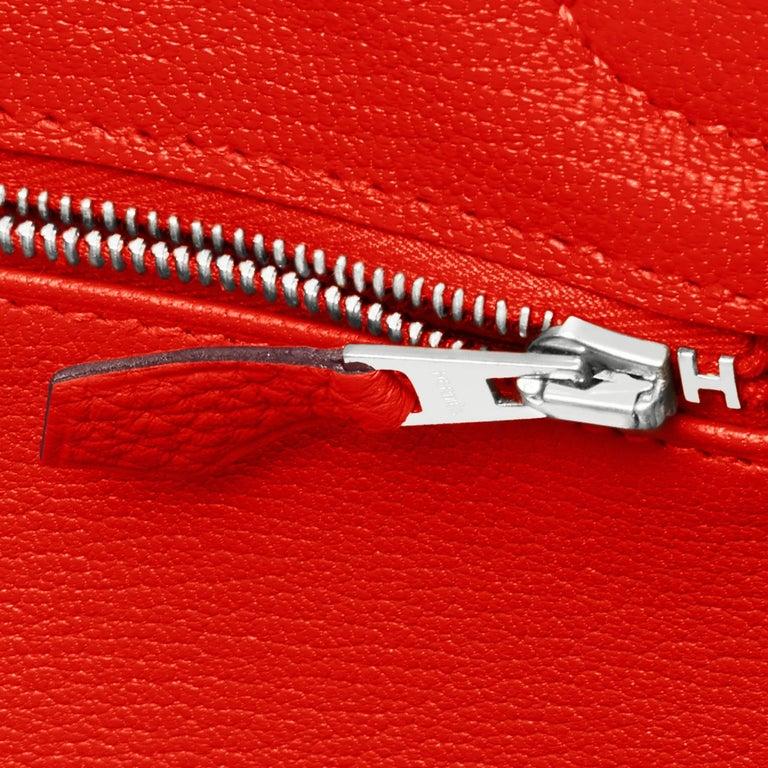 Hermes Capucine Red-Orange 30cm Togo Birkin Palladium Bag NEW For Sale 8