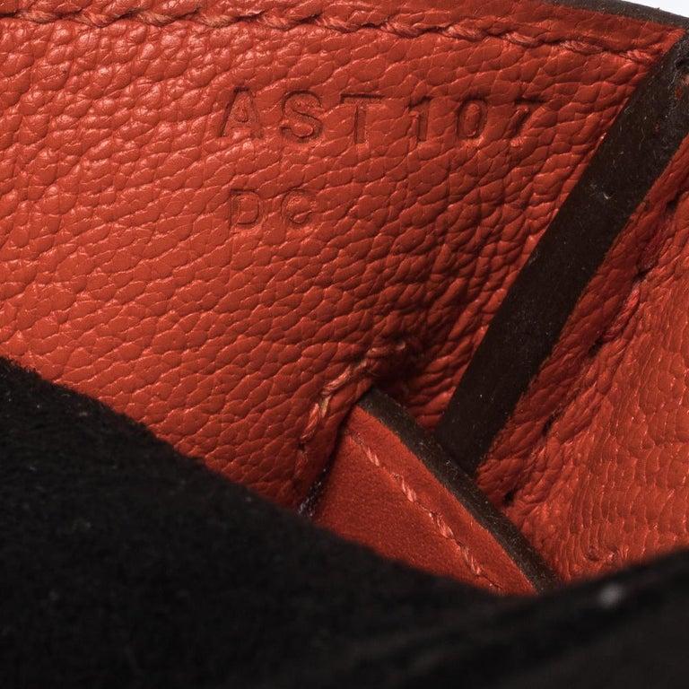 Hermes Capucine Tadelakt Leather Gold Hardware Birkin 30 Bag 7