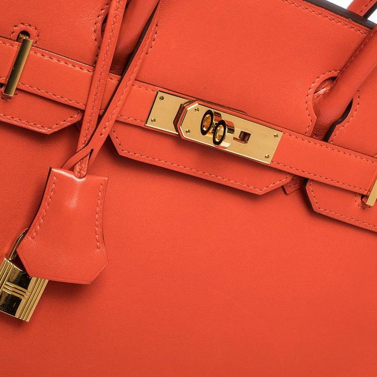 Hermes Capucine Tadelakt Leather Gold Hardware Birkin 30 Bag 1