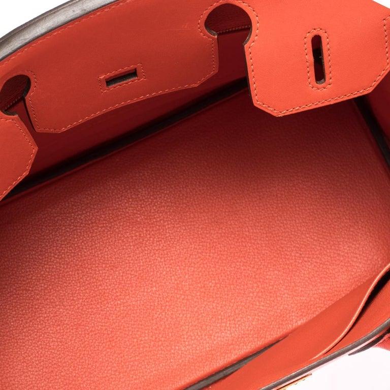 Hermes Capucine Tadelakt Leather Gold Hardware Birkin 30 Bag 2
