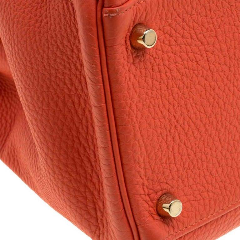 Hermes Capucine Togo Leather Gold Hardware Kelly Retourne 35 Bag For Sale 7
