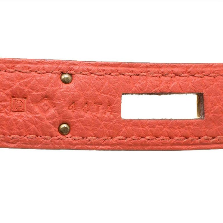 Hermes Capucine Togo Leather Gold Hardware Kelly Retourne 35 Bag For Sale 3