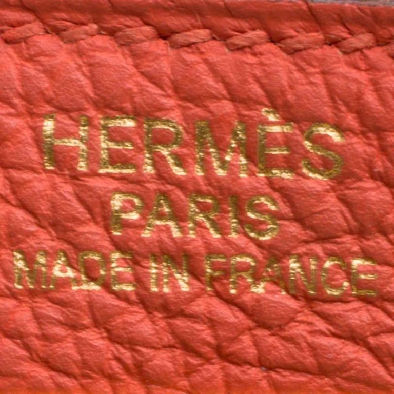 Hermes Capucine Togo Leather Gold Hardware Kelly Retourne 35 Bag For Sale 4