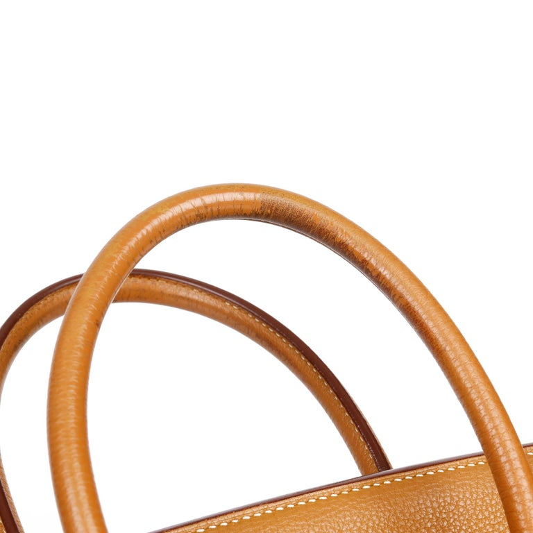 Hermès Caramel Togo Leather Birkin 35cm For Sale 8