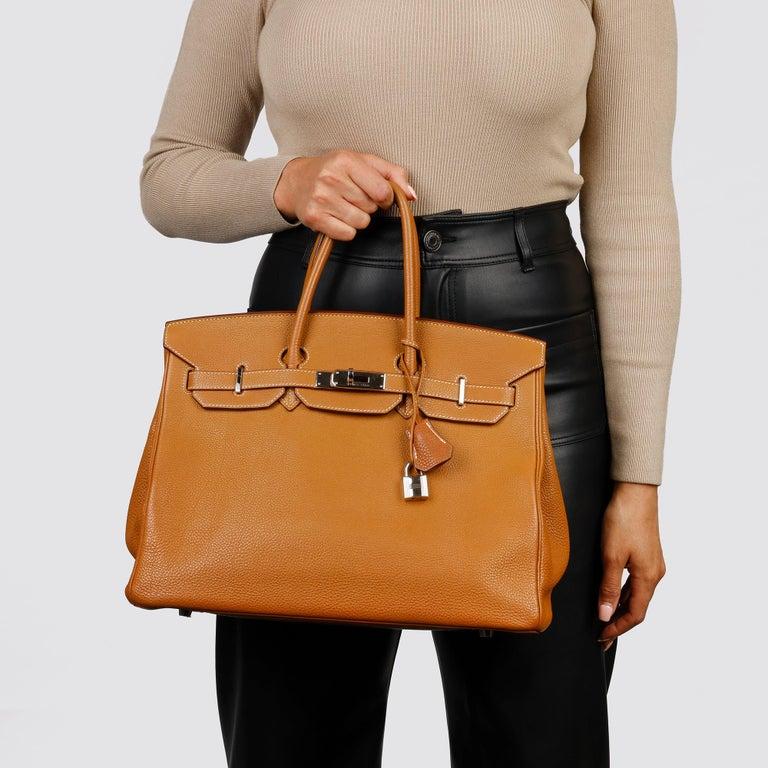 Hermès Caramel Togo Leather Birkin 35cm For Sale 9
