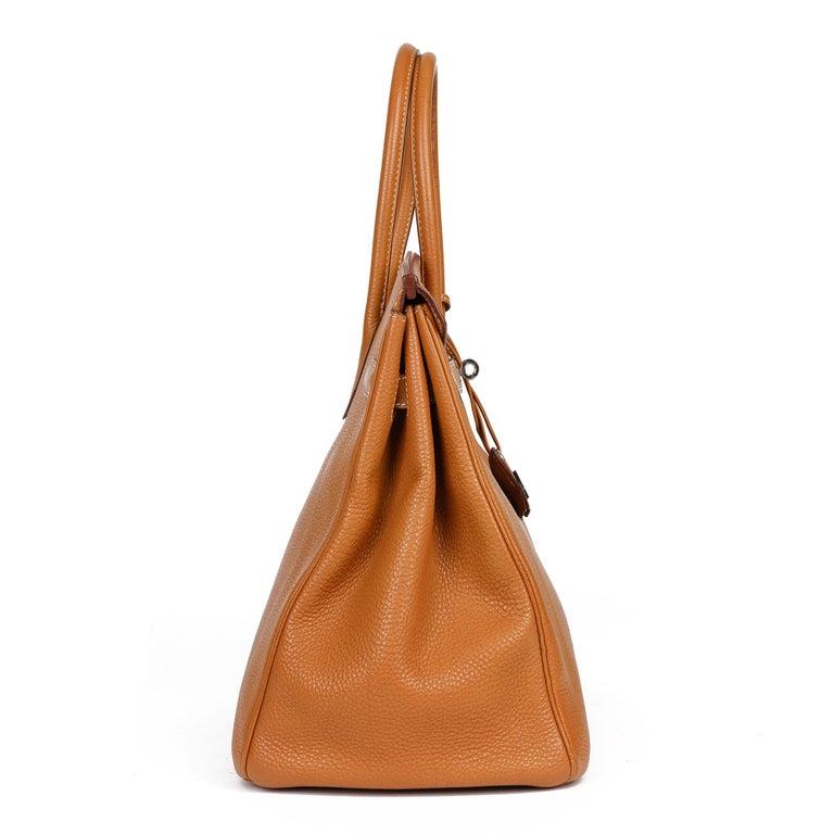 Brown Hermès Caramel Togo Leather Birkin 35cm For Sale