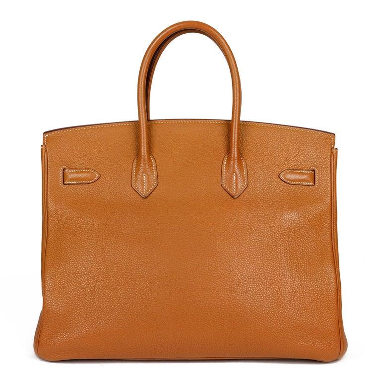Women's Hermès Caramel Togo Leather Birkin 35cm For Sale
