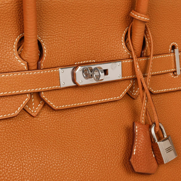 Hermès Caramel Togo Leather Birkin 35cm For Sale 2