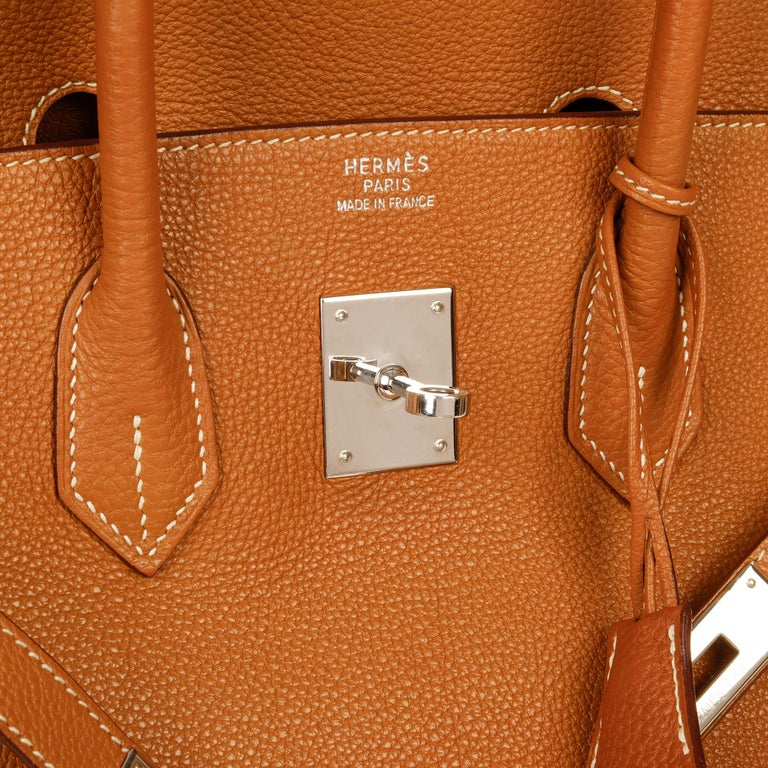 Hermès Caramel Togo Leather Birkin 35cm For Sale 3
