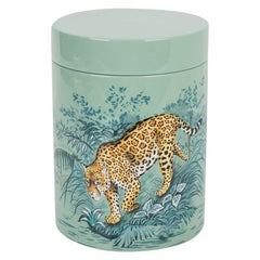 Hermes Carnets D'Equateur Tea Box Hand Painted Rare