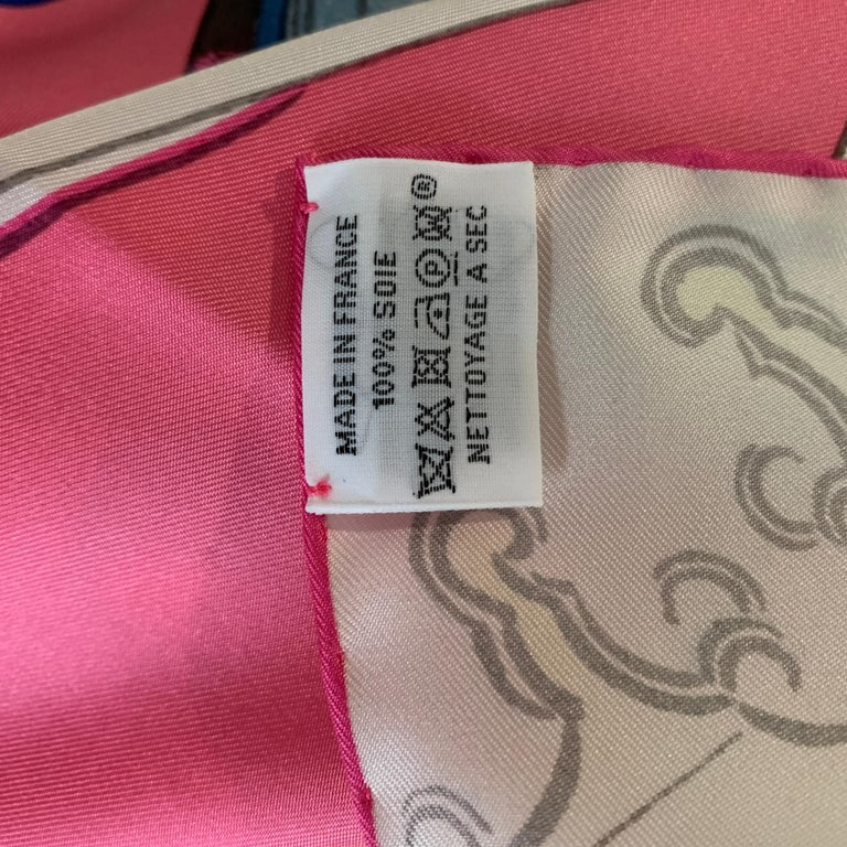 Beige HERMES Carre 90 Les Artisans d'Hermes With Gift Box 90cm Silk Scarf For Sale