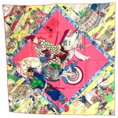 HERMES Carre 90 Les Artisans d'Hermes With Gift Box 90cm Silk Scarf