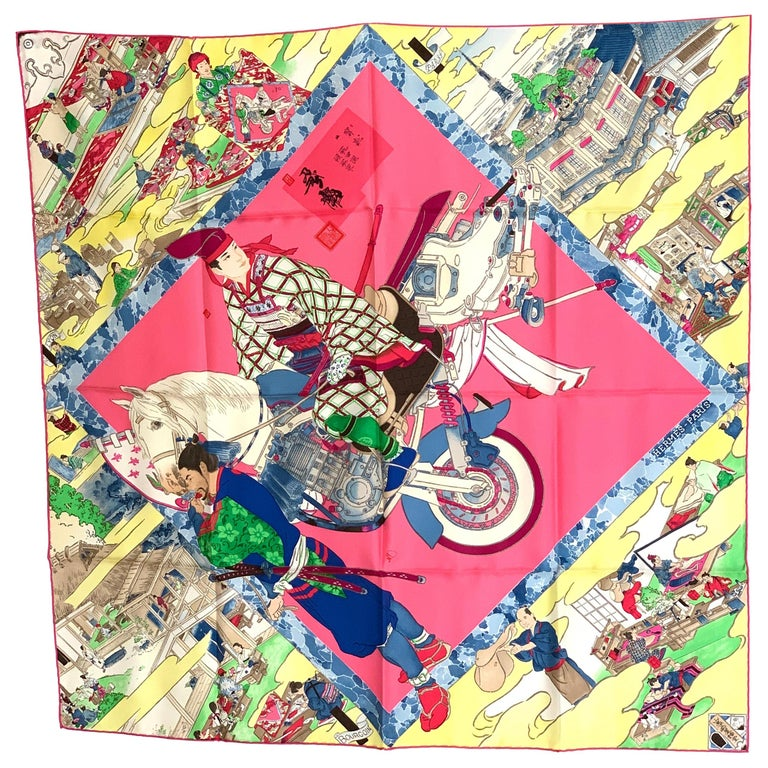 HERMES Carre 90 Les Artisans d'Hermes With Gift Box 90cm Silk Scarf For Sale