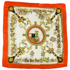 "Hermès Carré or Scarf ""Grands Attelages"" by Philippe Ledoux Circa 1972"