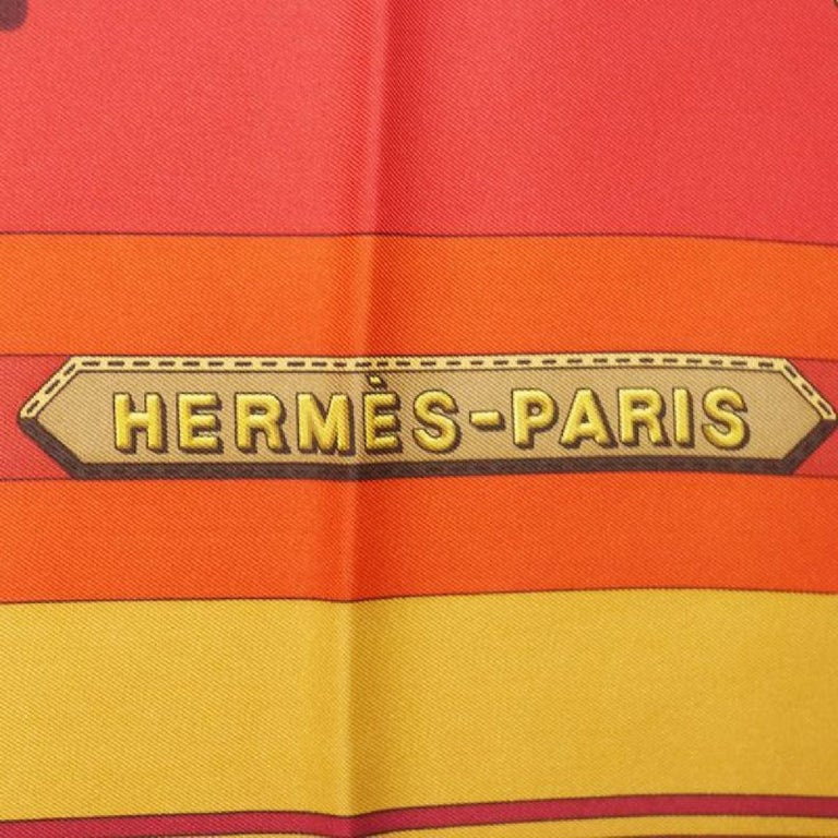 An authentic HERMES Carre90 belt pattern Womens scarf red. The color is Red. The outside material is Silk. The pattern is Carre90  belt pattern. Rank AB signs of wear (Small) Used goods in good condition with signs of wear according to A rank  A