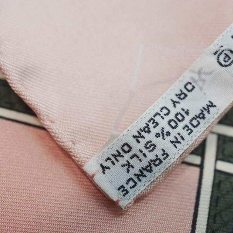 HERMES Carre90 CUIRS DU DESERT Desert leather decoration Womens scarf pink For Sale 2