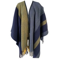 Hermes Casaque Poncho Wool and Cashmere