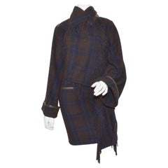 Hermes Cashmere Capelet and Skirt Set with Fringed Design