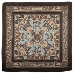 Hermes Cashmere Etoupe Brown Shawl