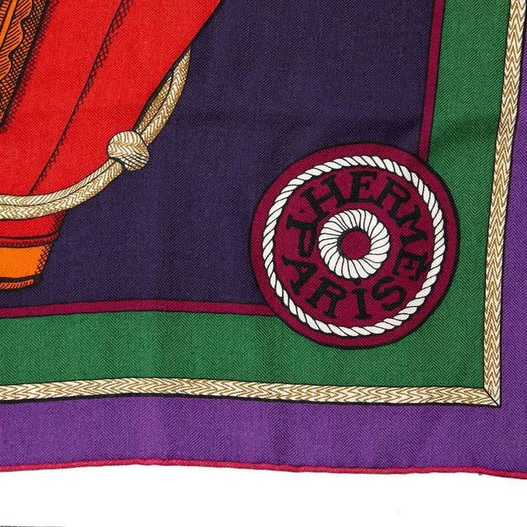 Hermes Cashmere Shawl 140 In Excellent Condition For Sale In Paris, FR