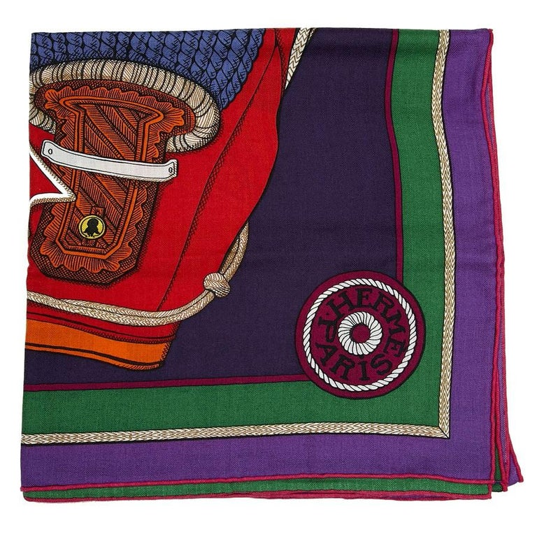 Hermes Cashmere Shawl 140 For Sale 1
