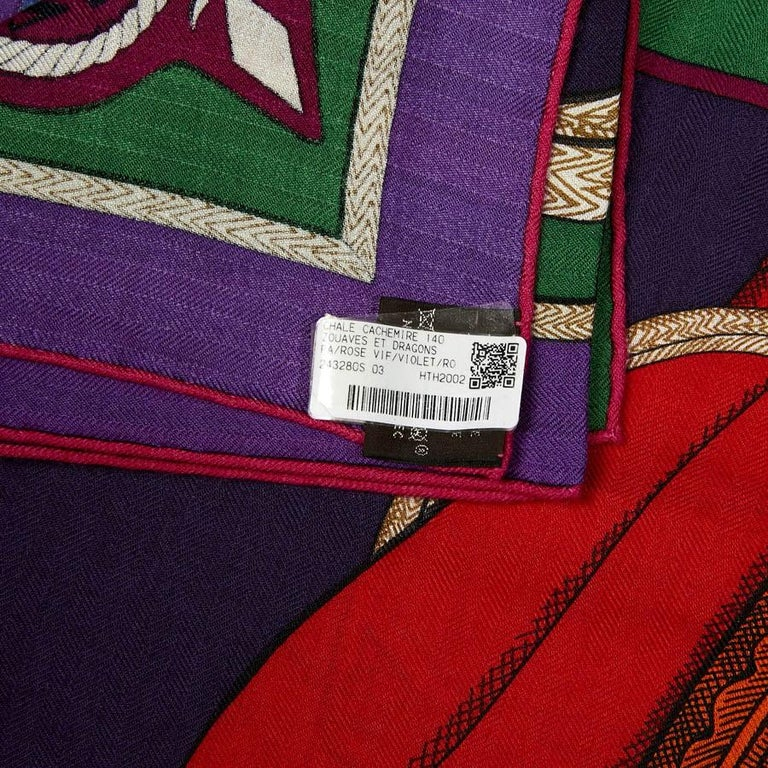 Hermes Cashmere Shawl 140 For Sale 2