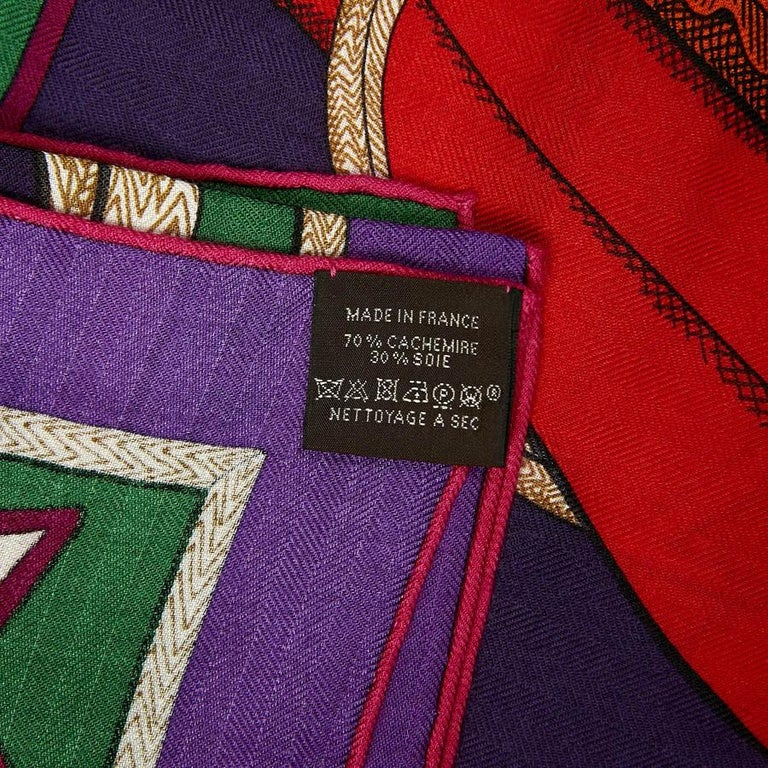 Hermes Cashmere Shawl 140 For Sale 4