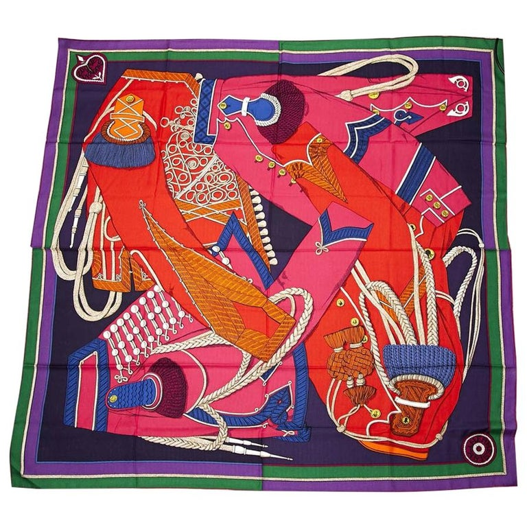 Hermes Cashmere Shawl 140 For Sale