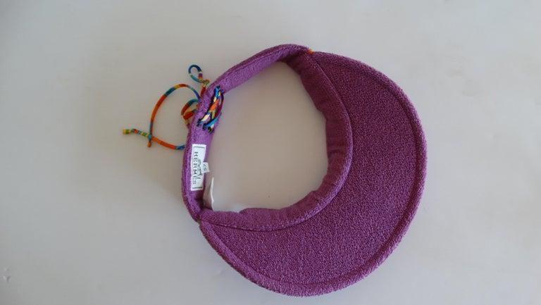 Hermès Casquette Oasis Sun Visor Hat  6