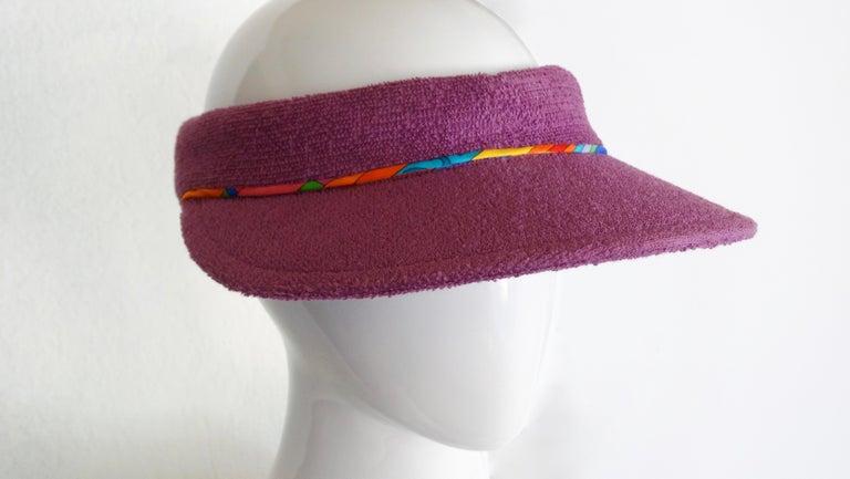 Hermès Casquette Oasis Sun Visor Hat  In Excellent Condition In Scottsdale, AZ