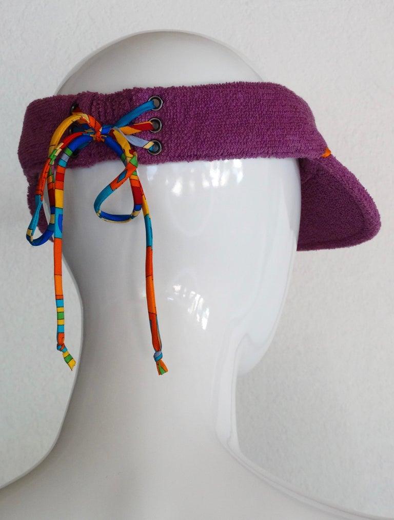 Women's or Men's Hermès Casquette Oasis Sun Visor Hat