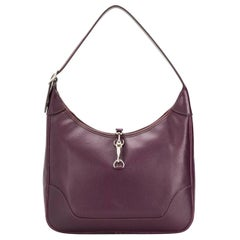 2003s Hermes Cassis Trim Shoulder Tote Bag