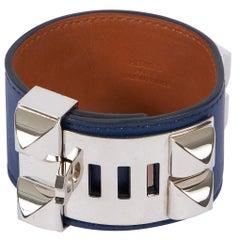 Hermes CDC Blue Palladium Bracelet