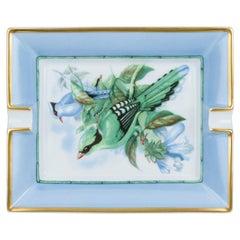 Hermès Celeste Bird Porcelain Ashtray