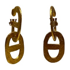 Hermes Chain d'Ancre Bijoux Earrings