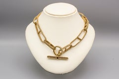 HERMES Chaine D'Ancre 18K Gold Flexible Mesh Toggle Necklace
