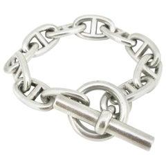Hermès Chaine d'Ancre Large Model Silver Chain Link Bracelet