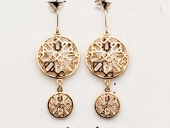 HERMES Chaine D'Ancre Passarelle 18K Rose Gold Drop Earrings
