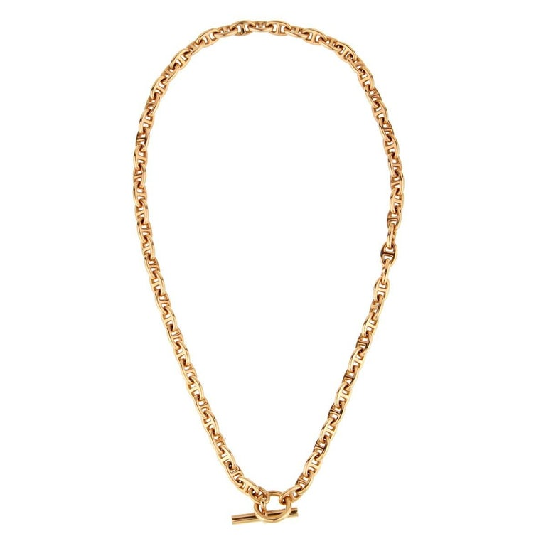 Hermes Chaine D'Ancre Rose Gold Necklace