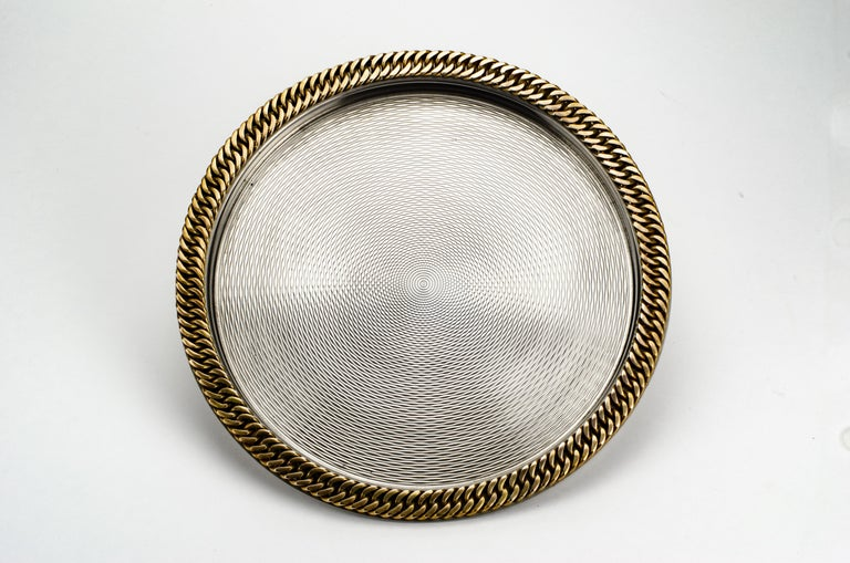 Modern Hermès Chain Link Tray For Sale