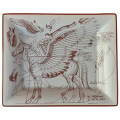 Hermès Change Tray Ashtray Le Pegase Pegasus Winged Horse Porcelain