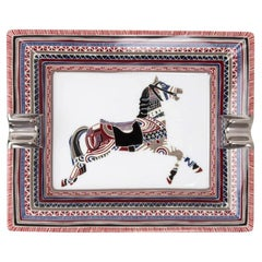 Hermes Change Tray Cheval D'Apparat Porcelain Rare Print New w/Box